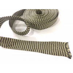 Manga tubular trançada de fibra de kevlar-carbono - Ø 45 mm.