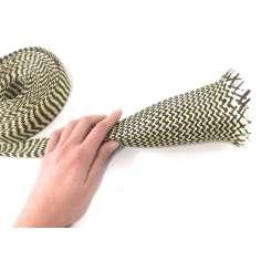 Commercial sample 60mm Ø Kevlar-carbon fiber braided tubular sleeve