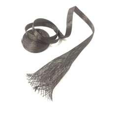 Muestra comercial manga tubular trenzada de fibra de carbono de 30mm Ø