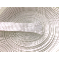 Muestra comercial manga tubular trenzada de fibra de vidrio de 15mm Ø