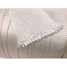 Muestra comercial manga tubular trenzada de fibra de vidrio de 55mm Ø