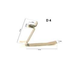 Metallic spring for D4 tube