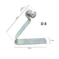 Mola metálica para tubo D8