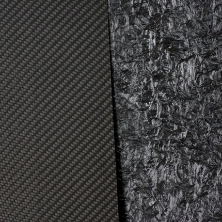 One-sided carbon fiber plate - 2500 x 1200 x 2,5 mm.