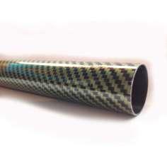 Tubo de fibra de carbono-kevlar malha vista (26 mm. Ø externo - 24 mm. Ø interior) 2000 mm.