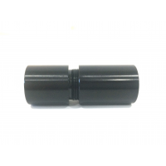 Conector de aluminio con rosca para unión de tubos con medidas (20mm. Ø exterior)