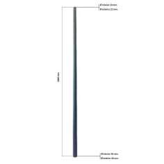 Tubo cónico de fibra de carbono malla vista (de 22 a 40mm. Ø exterior - 20 a 38mm. Ø interior) 2000mm.