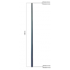 Tubo cónico de fibra de vidrio (de 22 a 35mm. Ø exterior - 20 a 33mm. Ø interior) 1200mm.