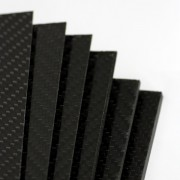 Two-sided carbon fiber plate GLOSS - 400 x 250 x 0.6 mm.