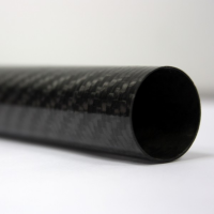 Tubo de fibra de carbono malha vista (35 mm. Ø externo - 32 mm. Ø interior) 2000 mm.