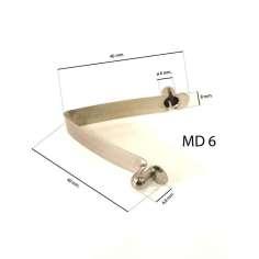 Muelle metálico DOBLE para tubo D6