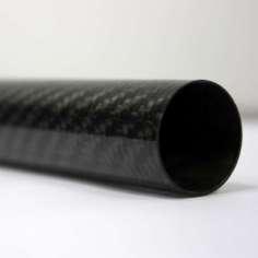 Tubo de fibra de carbono malla vista (32mm. Ø exterior - 26mm. Ø interior) 2000mm.