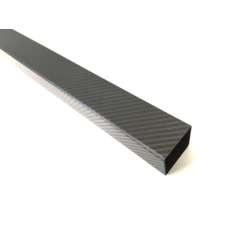 Tubo quadrado em fibra de carbono, exterior (50x50 mm.) - interior (46x46mm.) - Comprimento 1850 mm.