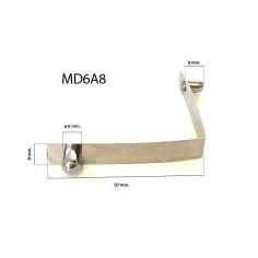 Muelle metálico DOBLE de botón macizo para tubo D6A8