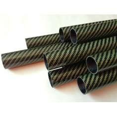 Tubo de fibra de carbono-Kevlar, armas de caça submarina (28 mm Ø ext - 25 mm int) 600 a 1200 mm.