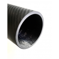 Tubo de fibra de carbono malla vista (80mm. Ø exterior - 70mm. Ø interior) 4000mm.
