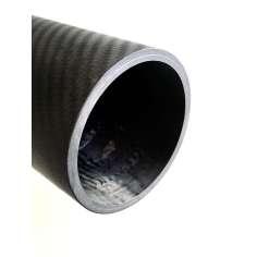 Tubo de fibra de carbono malla vista (80mm. Ø exterior - 70mm. Ø interior) 2000mm.