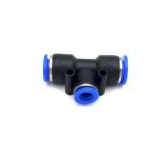 Adaptador tubo a tubo em T Ø 10mm-8mm