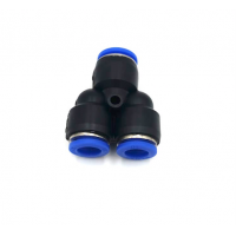 Adaptador tubo a tubo em Y Ø 8mm-8mm