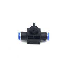 Adaptador tubo a tubo com válvula Ø 8mm-8mm