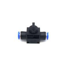 Adaptador tubo a tubo con válvula Ø 8mm-8mm