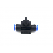 Adapter tube to tube with valve Ø 8mm-8mm