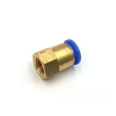 """Adaptador reto de tubo com rosca Ø 8mm-1/4 """""""