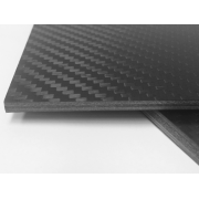 Carbon + glass fiber plate MATTE - 1500 x 1000 x 5 mm.