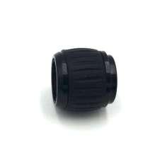 Abrazadera de aluminio cónica para unir tubos Ø 22x20mm. + Ø 25x23mm.