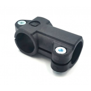 Angle clamp-connector for outer Ø 12-18mm tube