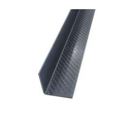 Angular a 90º de fibra de carbono. Espessura 1,5 mm. - 20 x 20 x 2300 mm