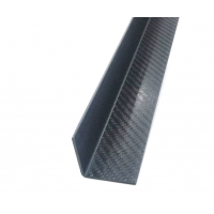 Angular a 90º de fibra de carbono. Espessura 1,5 mm. - 20 x 20 x 1100 mm