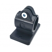 Flat base clamp-connector for outer Ø 12-18mm tube