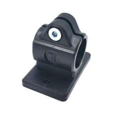 Abrazadera-conector base en plano para tubo Ø exterior 20-30mm.