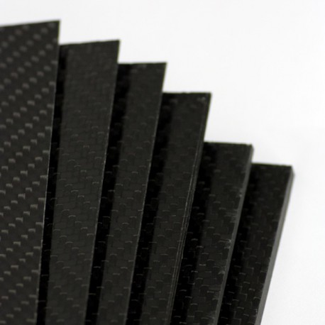 Two-sided carbon fiber plate MATTE - 1500 x 1000 x 6 mm.