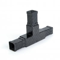 3-way carbon square connector