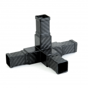 4 way 3D carbon square connector