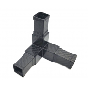 3-way carbon square connector 3D