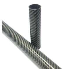 Amostra comercial de tubo de carbono-kevlar com acabamento BRILHANTE (Tamanho variável)