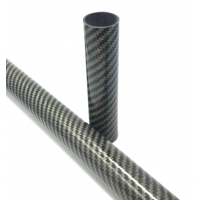 Commercial sample of NATURAL finish carbon-kevlar fiber tube (Variable size)