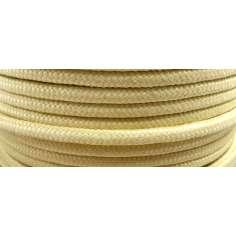 Cordón redondo trenzado de fibra de kevlar de 6mm