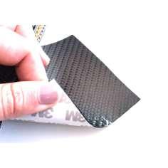Lámina flexible de fibra de carbono 3K Sarga (Color Negro) con adhesivo 3M