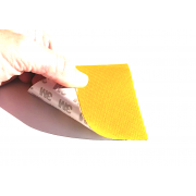 Glass fiber 1K flexible sheet Twill (Yellow color) with 3M adhesive