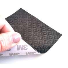 Lámina flexible de fibra de carbono con patrón enrejado (Color Negro) con adhesivo 3M