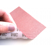 Glass fiber 1K flexible sheet Twill (Pink color) with 3M adhesive
