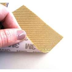 Muestra comercial lámina flexible de fibra de vidrio Sarga (Color Dorado) con adhesivo 3M - 50x50 mm.