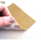 Commercial sample glass fiber flexible blade 1K Twill 2x2 (Gold color) with 3M adhesive - 50x50 mm.