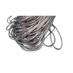 Cordón redondo trenzado de fibra de carbono de 2mm
