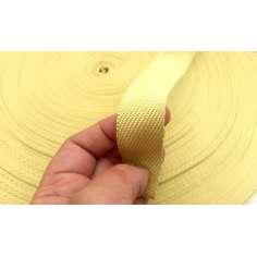 Cinta plana de fibra de kevlar trenzada de 25mm para protección
