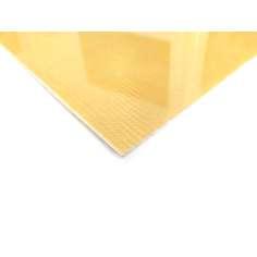 Amostra comercial Placa de fibra de Kevlar de um lado - 50 x 50 x 1 mm.